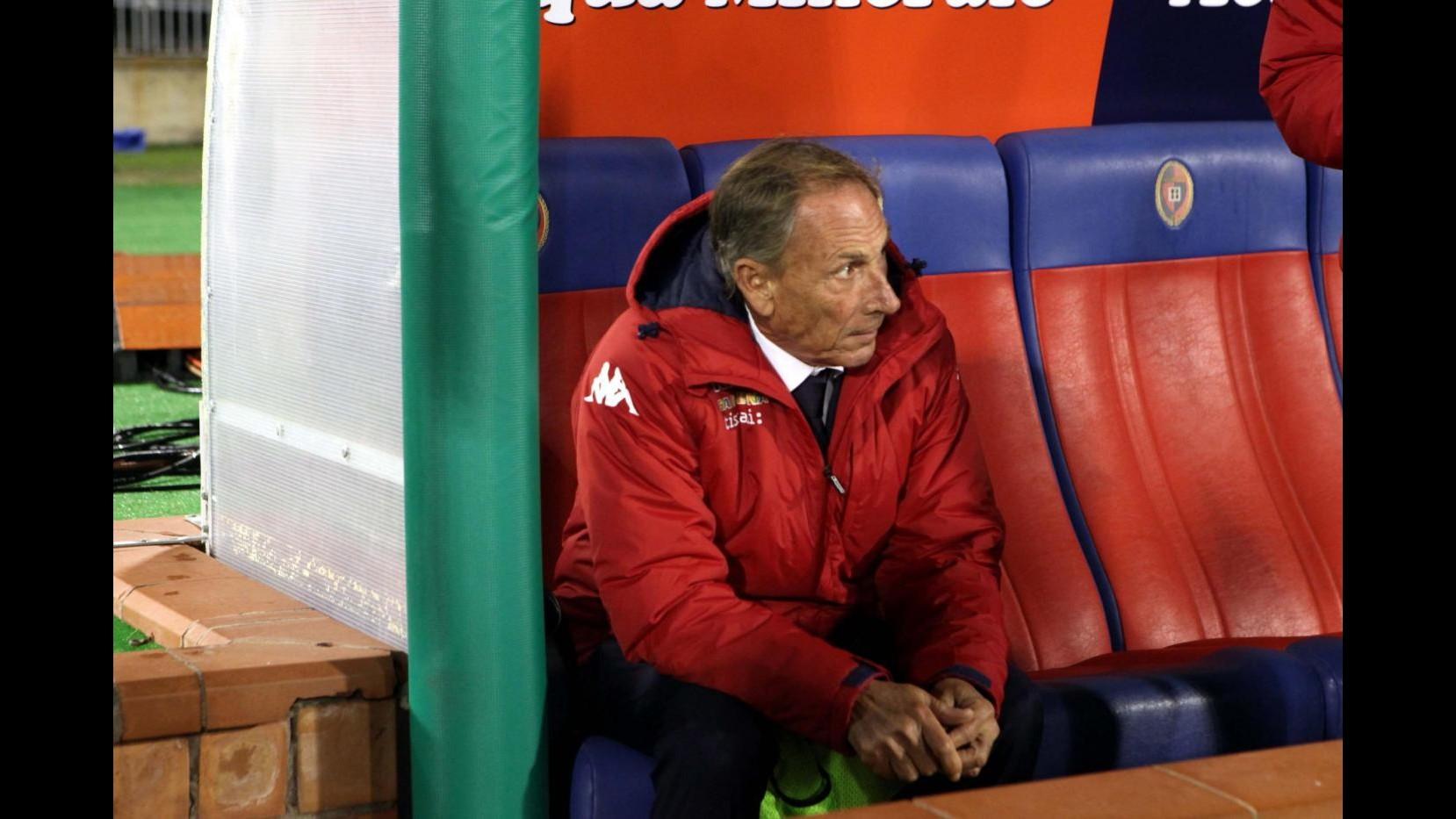 Cagliari, Zeman: Avrei cambiato tutti nell'intervallo ma non si può