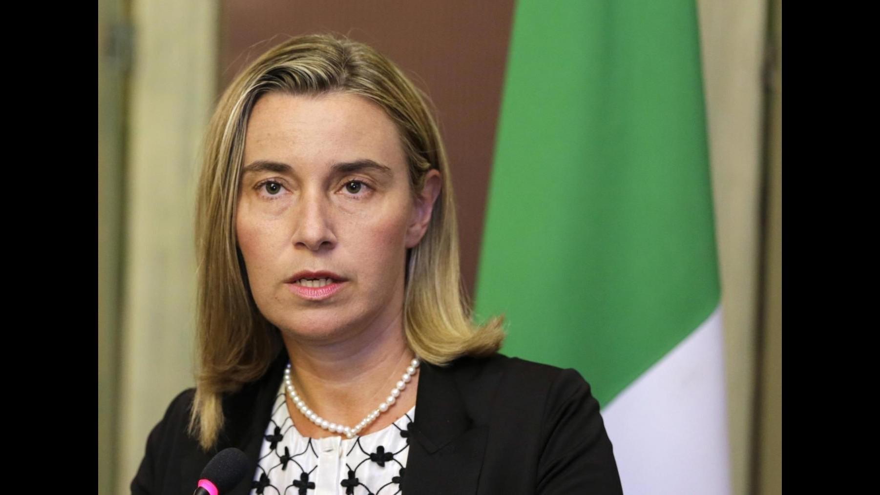 Ue, Mogherini: Sfida interna è la più importante, no secondi appelli