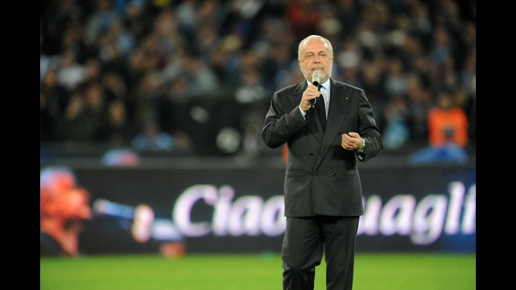 Napoli, De Laurentiis: Contesto accuse Nicchi, miei tweet non offensivi