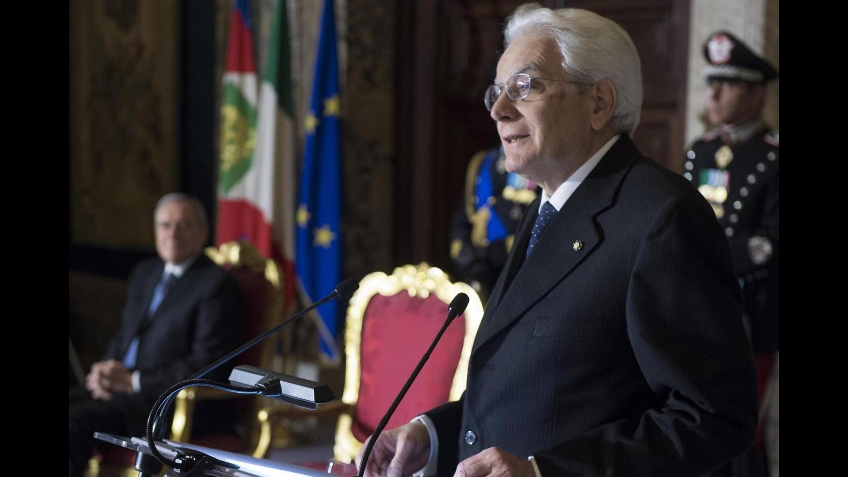 Foibe, Mattarella: In Ue no a estremismo nazionalista e pulizie etniche