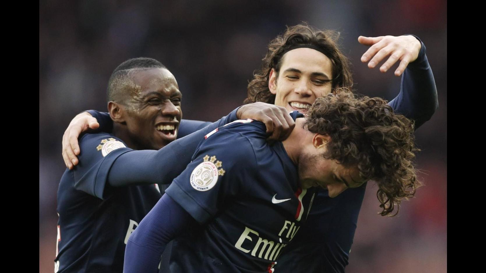 Ligue1: doppietta Rabiot lancia il Psg, 3-1 al Tolosa