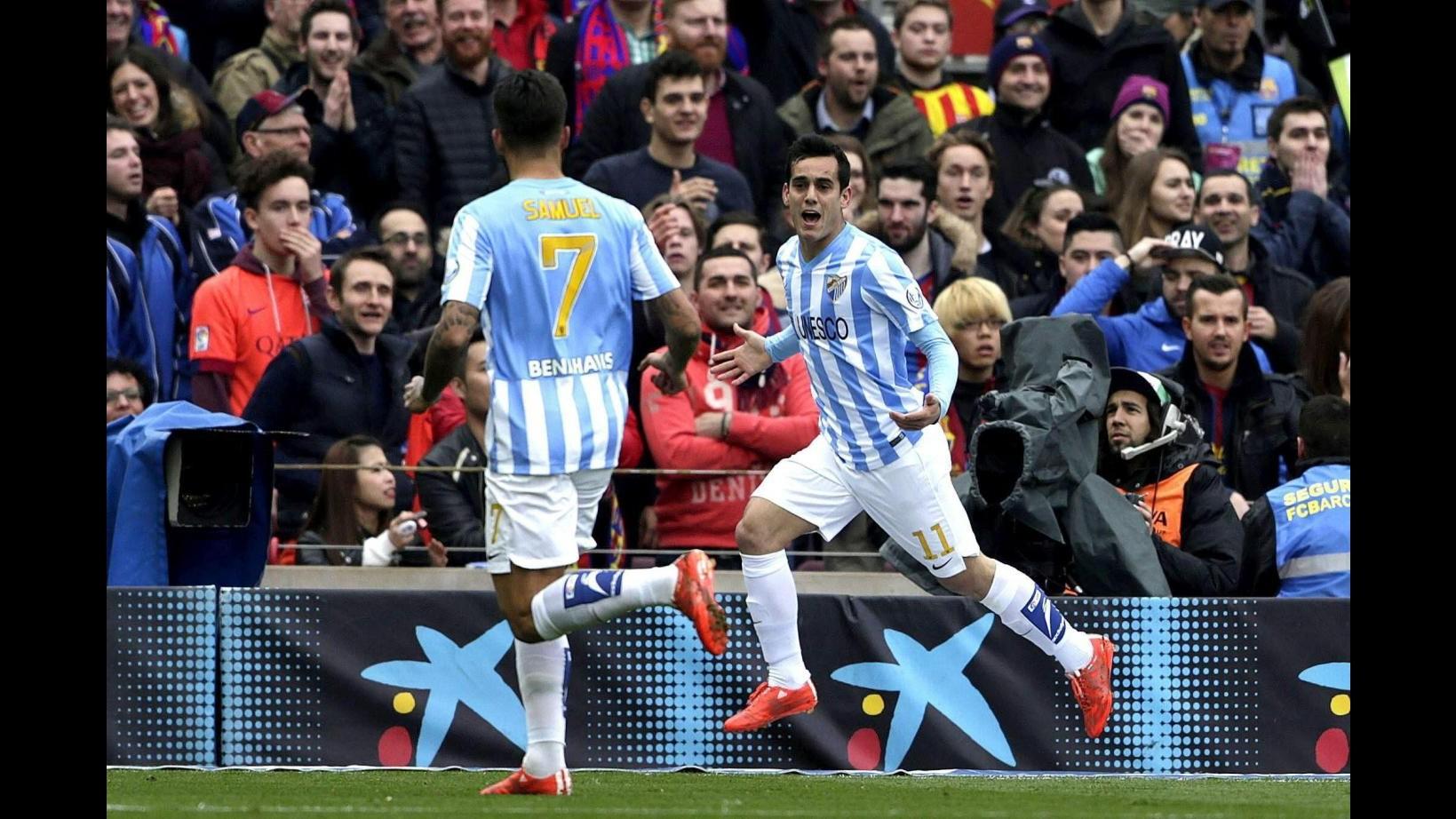 Liga: Barcellona cade in casa, Malaga vince 1-0 al Camp Nou. Atletico travolge Almeria