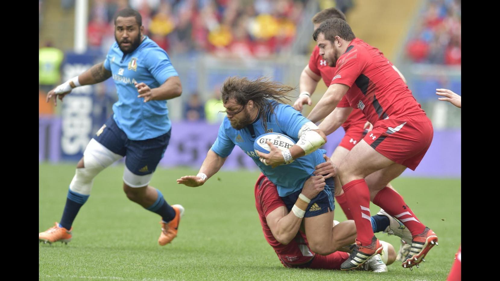Rugby, Sei Nazioni: Italia lotta un tempo poi crolla con Galles, 60-21 all'Olimpico