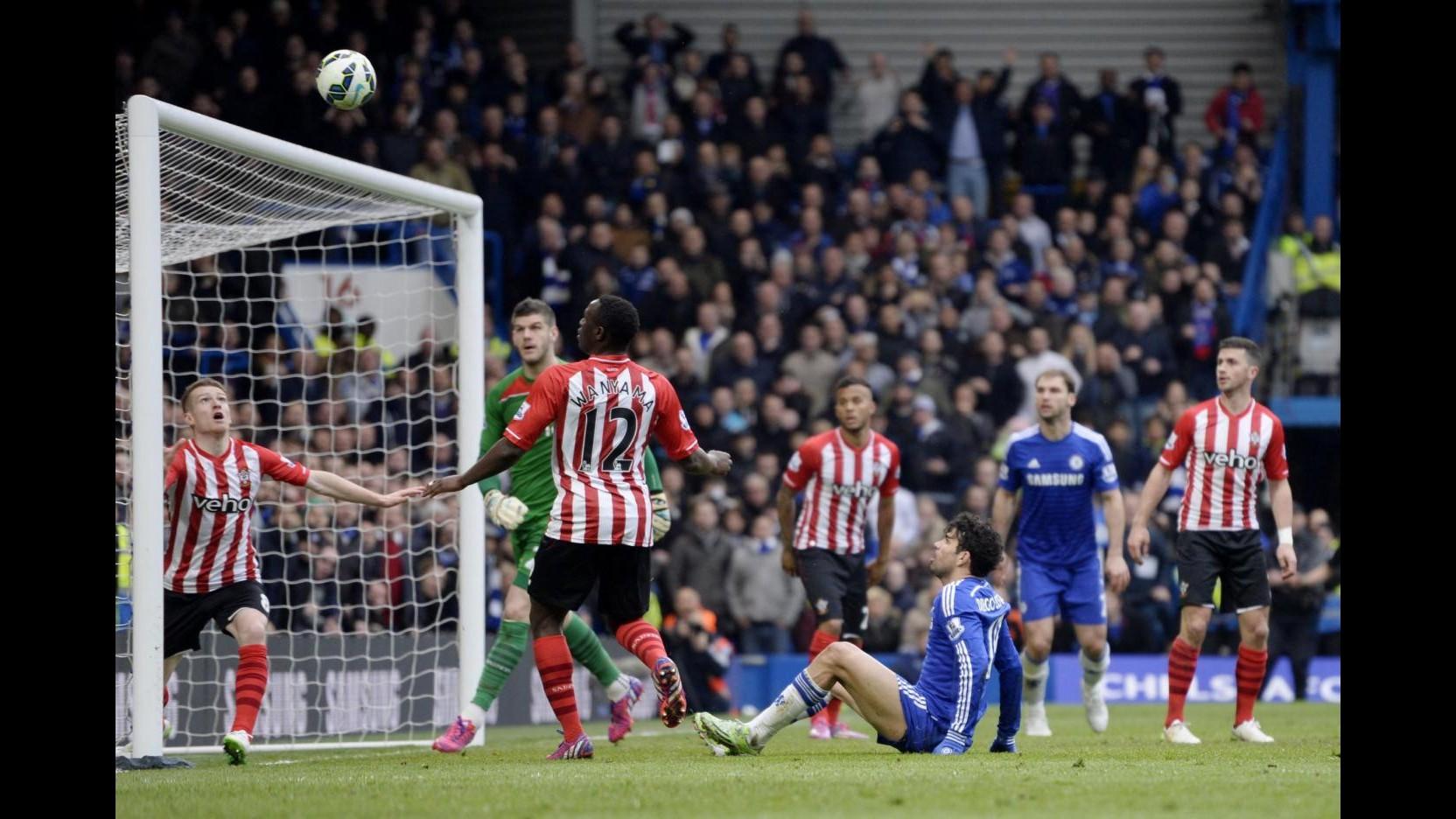 Premier League: Diego Costa illude, Chelsea fa 1-1 con Southampton