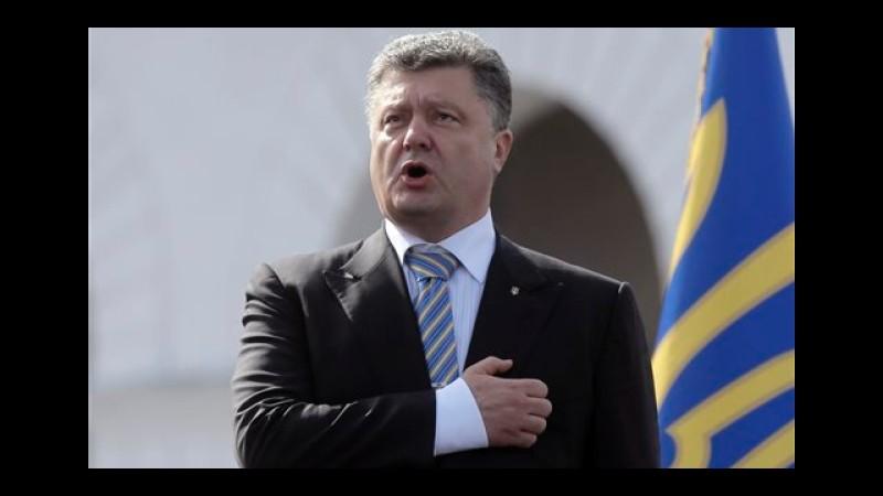 Ucraina, il presidente Poroshenko a Donetsk per incontrare le truppe