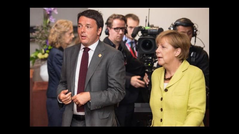 Expo, domani Matteo Renzi accoglie la cancelliera Angela Merkel a Milano