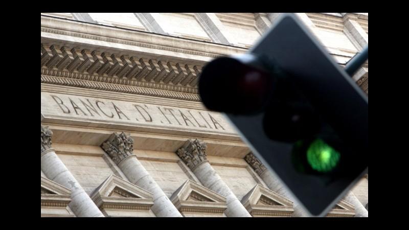 Bankitalia: a giugno scendono i prestiti a imprese e famiglie. Tassi sui mutui al 3,01%