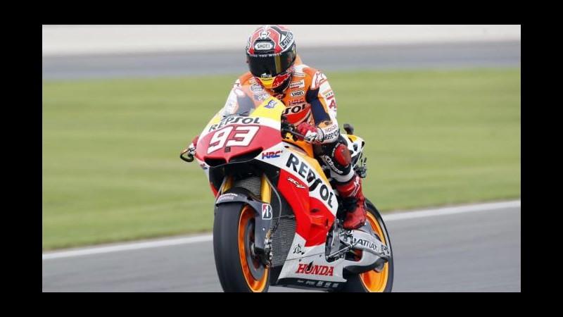 MotoGp, Gran Bretagna: Marquez in pole, Rossi quarto