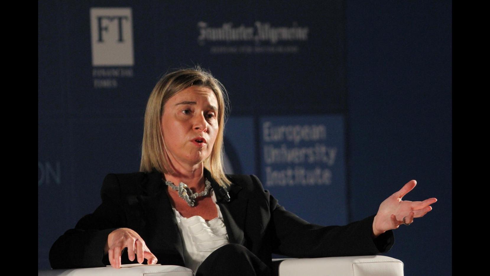 Medioriente, da mercoledì Mogherini in visita: vedrà Netanyahu e Abbas