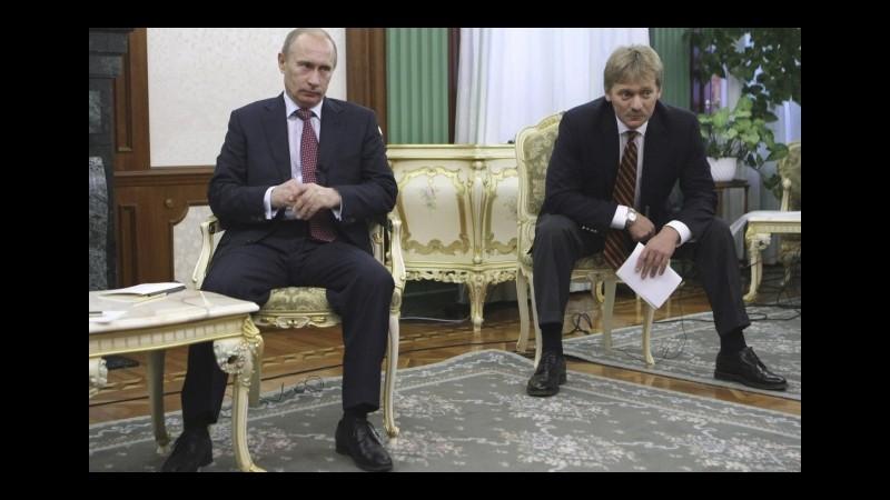 Siria, Cremlino non commenta sulle truppe russe in combattimenti