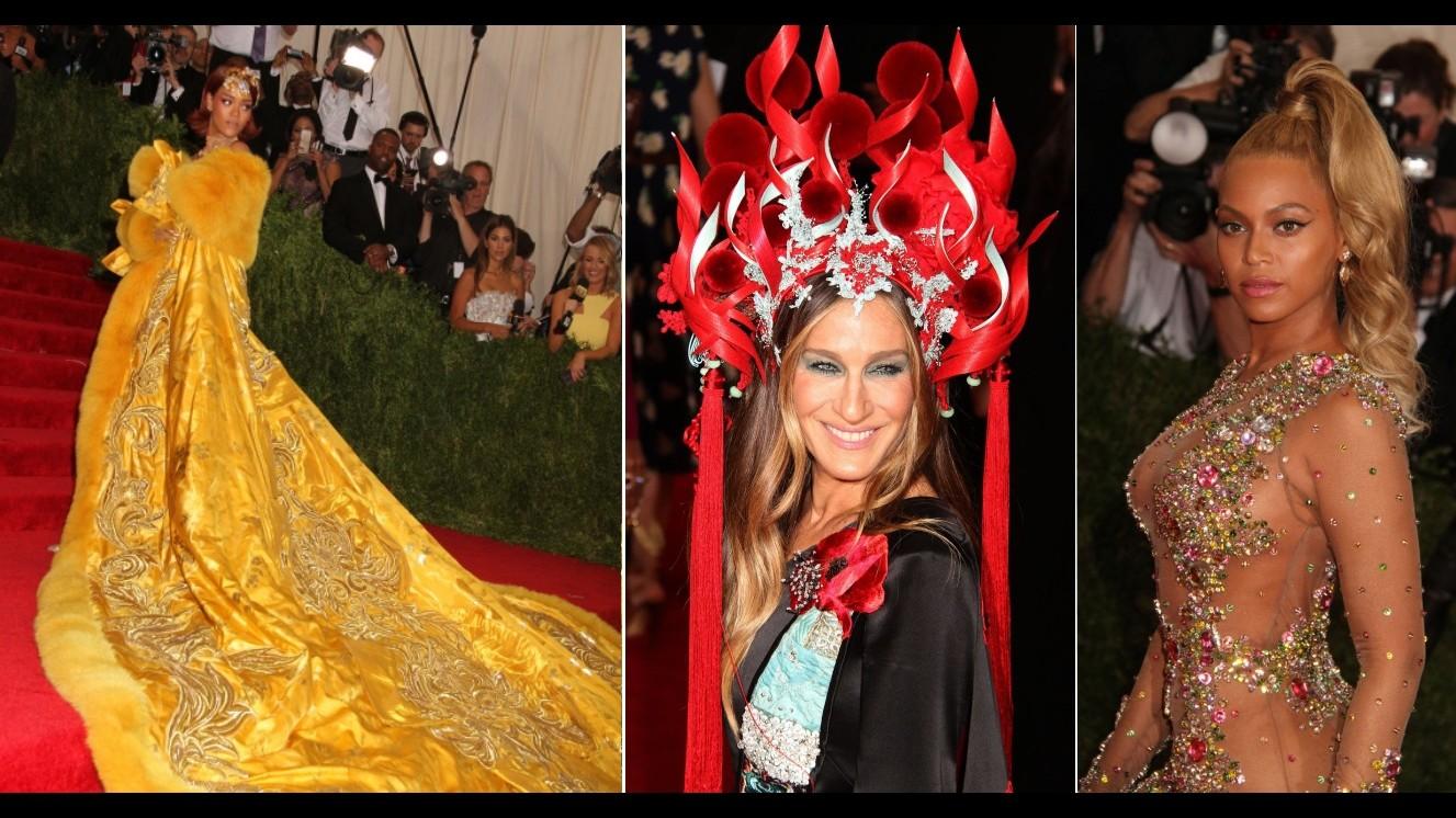 Fiamme, oro e trasparenze: stravaganze da star al Met Gala di New York