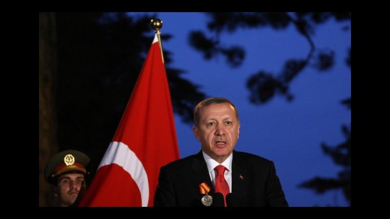Erdogan: L' Europa ha trasformato il Mediterraneo in un cimitero