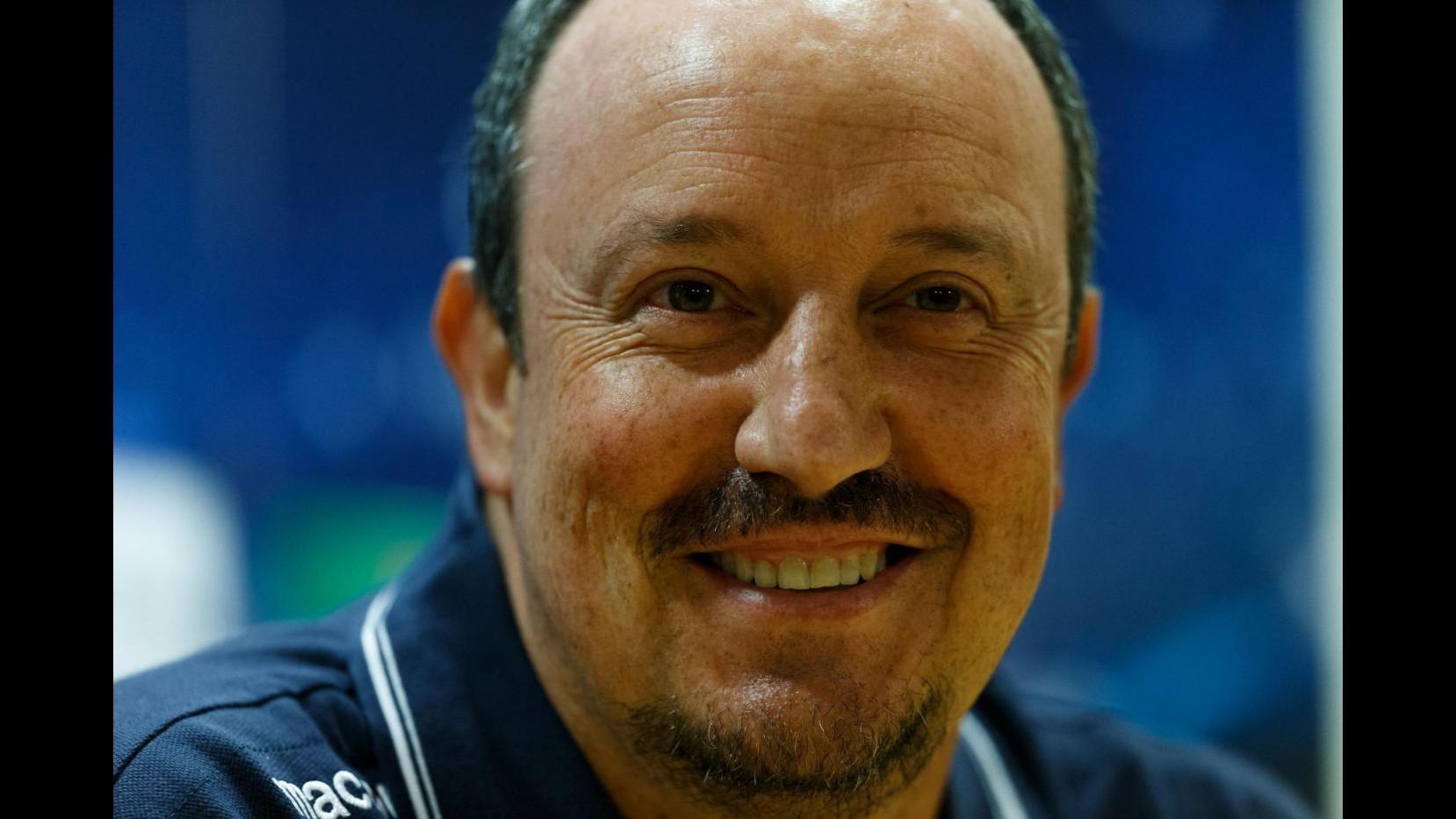 Benitez è arrivato a Madrid: Sono contento e pieno di speranze