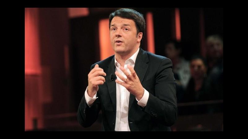 "Renzi: ""Impresentabili? Campagna autoreferenziale, lontano da realtà"""