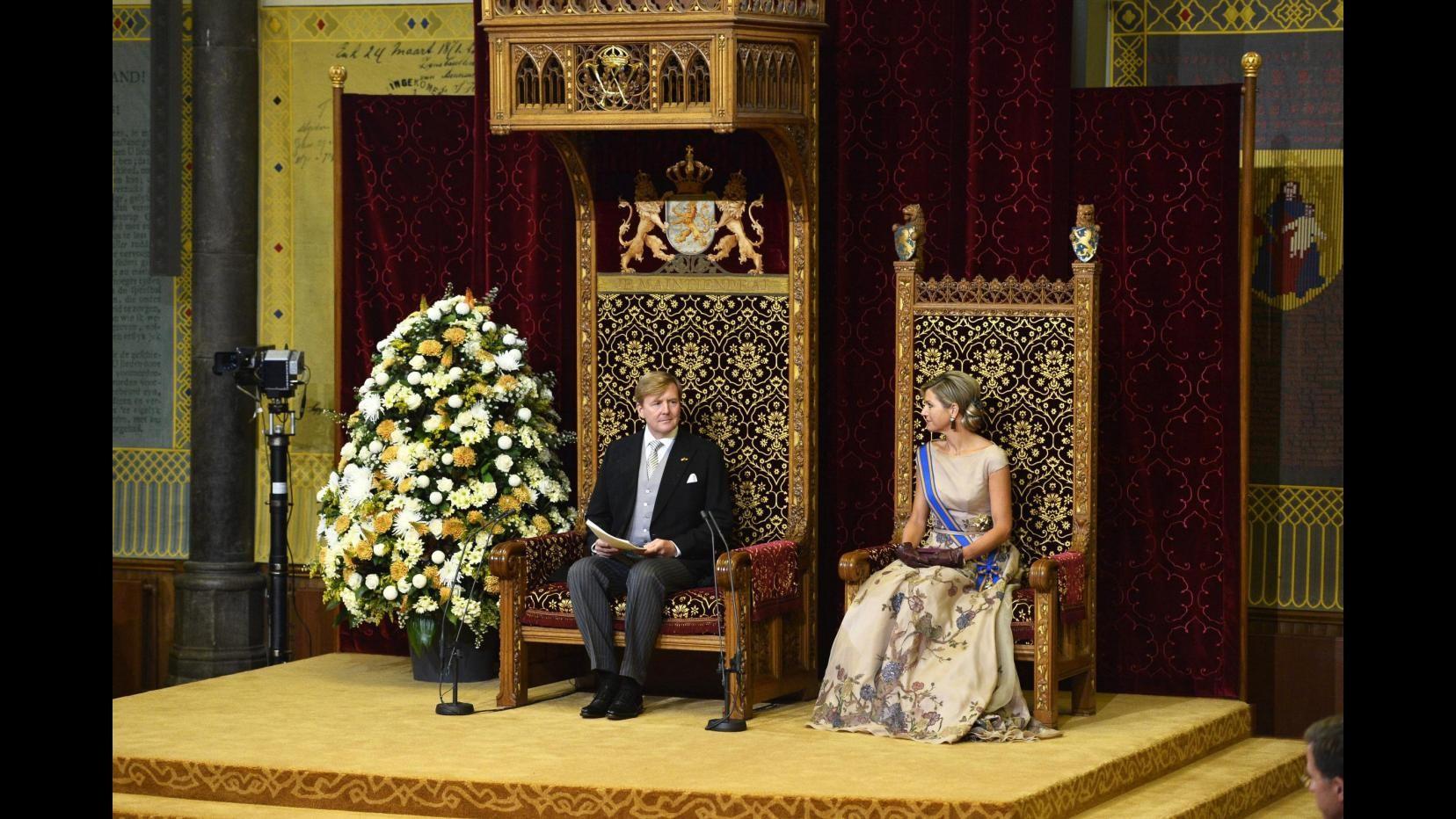 Carrozza d'oro per reali Olanda all'apertura del Parlamento