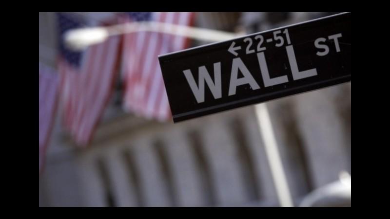 Wall Street chiude in rialzo: Dow Jones +1,40%