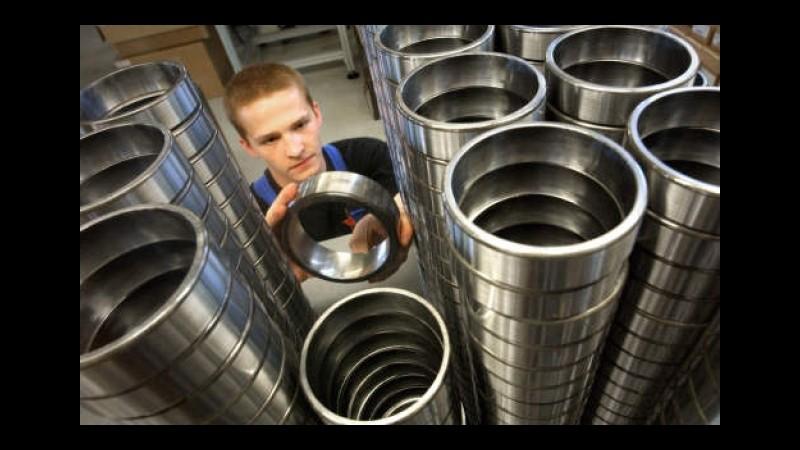 Eurostat: Produzione industriale eurozona +0,6% a luglio, +1,9% annuo
