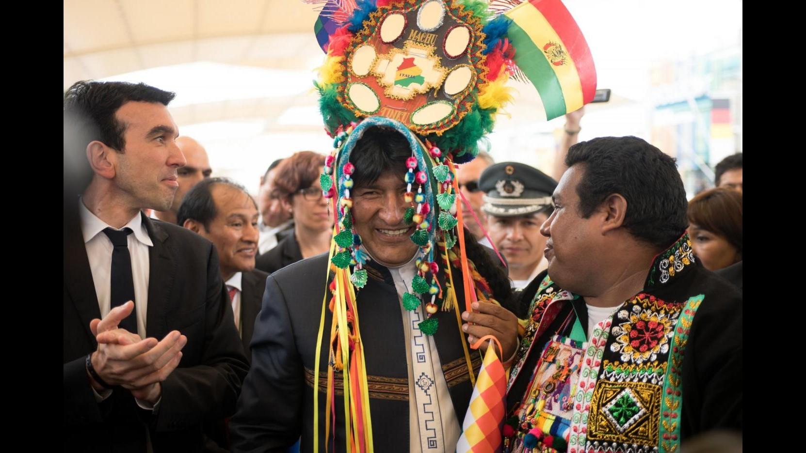 FOCUS – Expo, padiglione Bolivia accoglie Morales: quinoa per battere fame