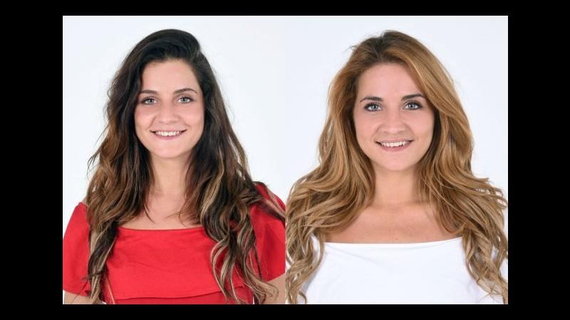 Gf14, la bionda e la mora: le gemelle Lidia e Jessica