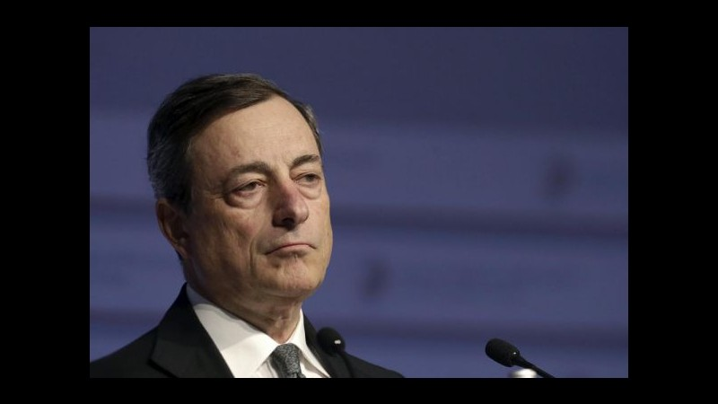 Draghi rassicura: Non c'è nessun rischio che l'esame Srep mini la ripresa