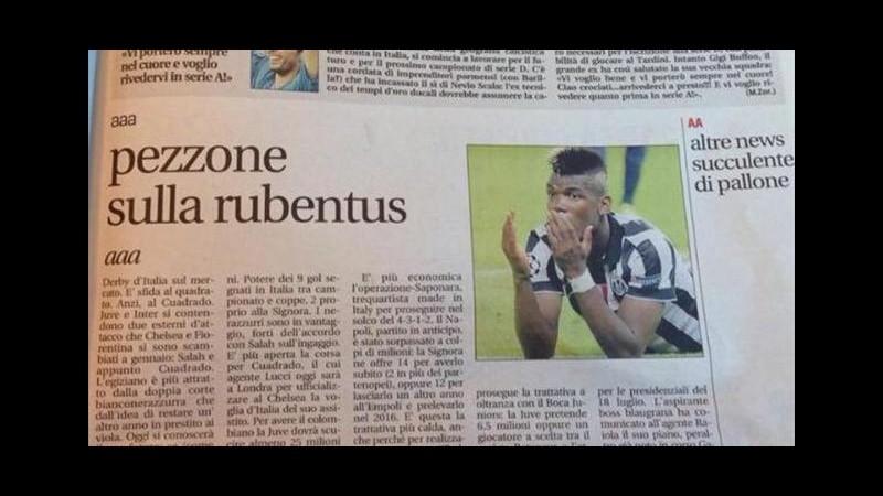 Leggo in stampa con 'Pezzone sulla Rubentus': ironia sul web