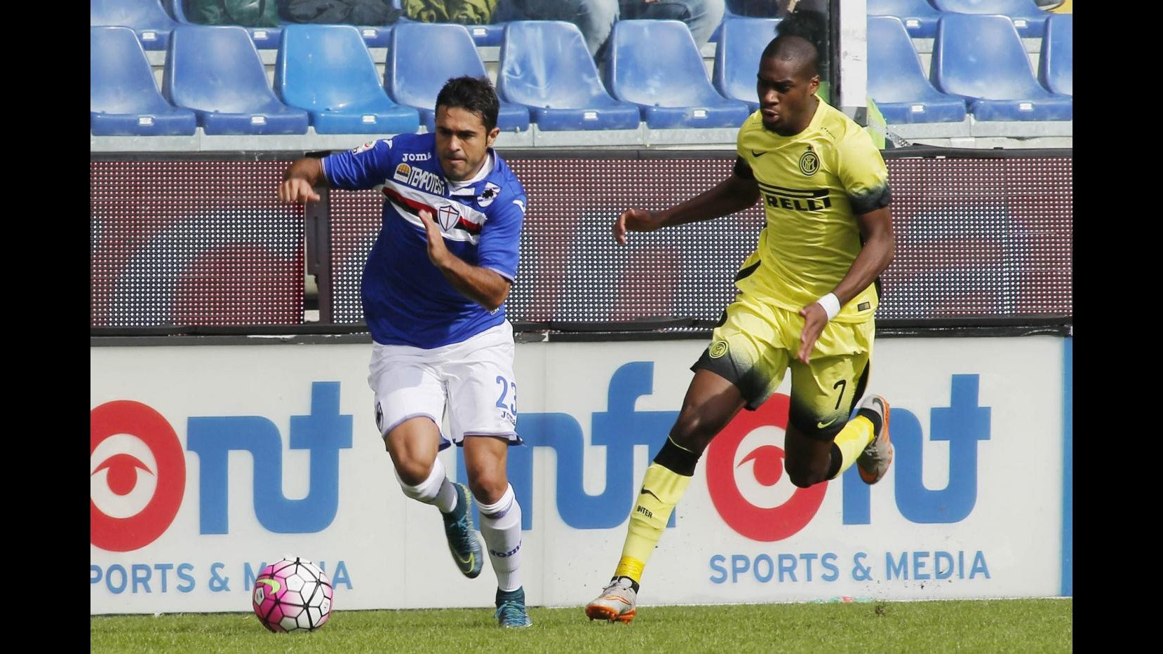 Muriel illude, Perisic salva l'Inter. 1-1 con la Sampdoria