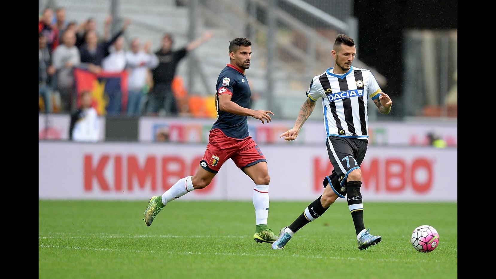 Perotti risponde a Di Natale, è 1-1 tra Udinese e Genoa