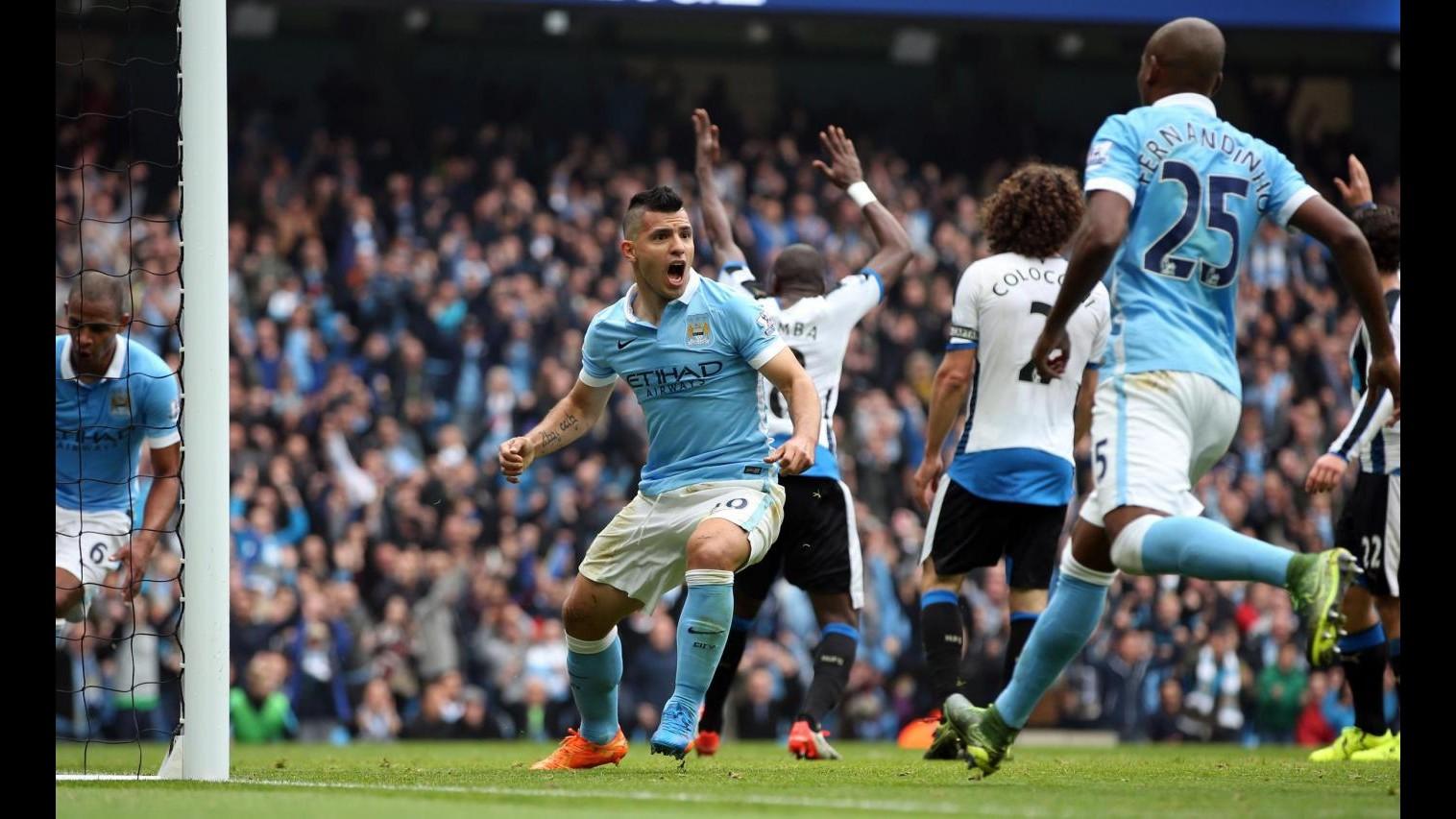 Premier League: Manchester City travolge Newcastle, super Aguero segna 5 reti