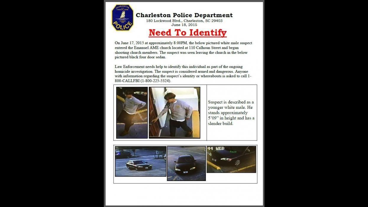 Strage di Charleston, Dylann Roof incriminato per omicidio