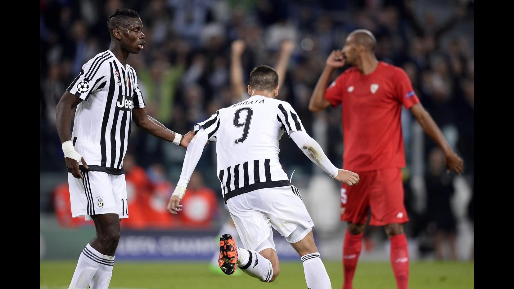 Champions, Morata-Zaza: la Juve stende il Siviglia 2-0