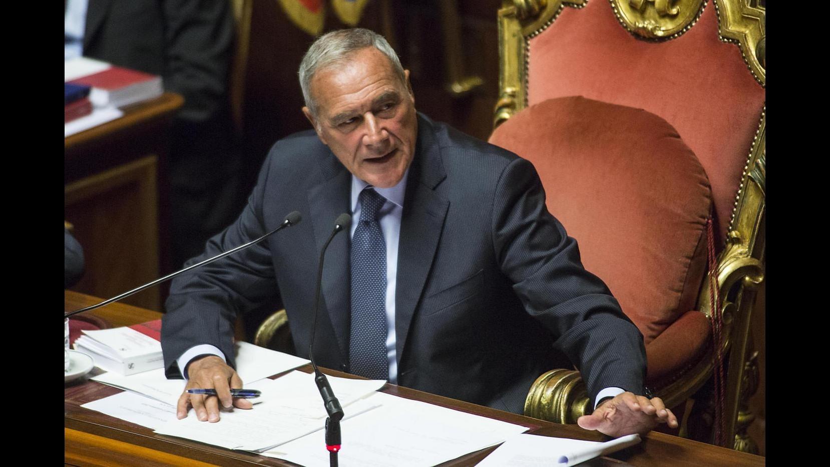 Grasso: Irricevibili 72 mln di emendamenti Lega: Regolamento da Marchese del Grillo