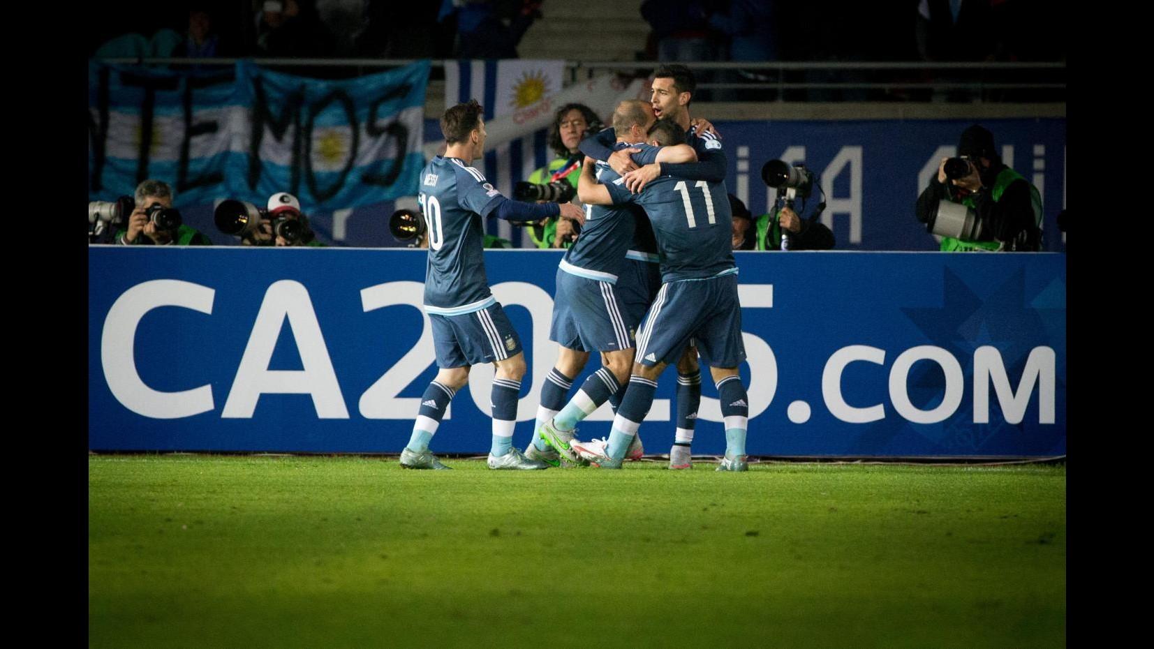 Coppa America: Argentina batte Uruguay 1-0, decisivo Aguero