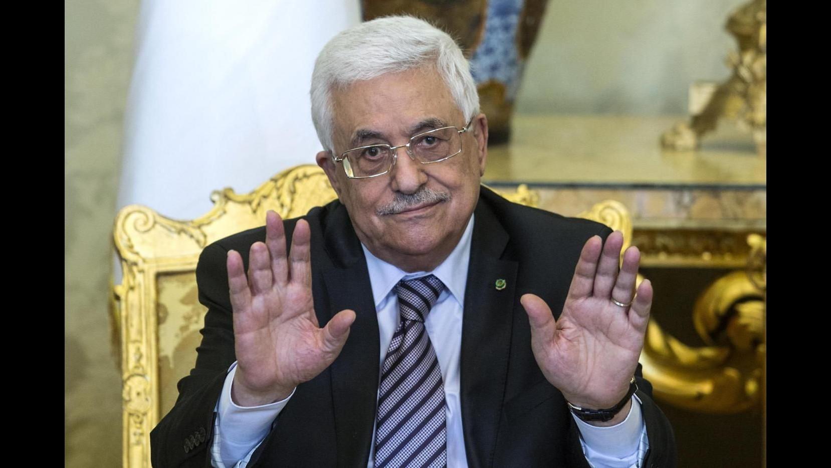 Medioriente, Abbas: Palestinesi siano uniti verso processo di pace