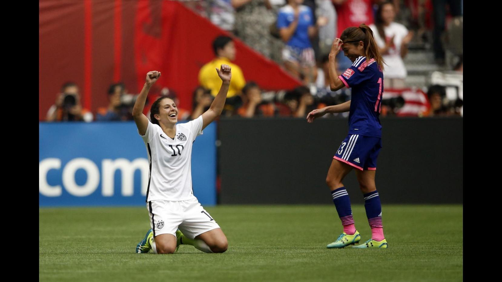 Calcio femminile, Stati Uniti campioni del mondo: Giappone battuto 5-2