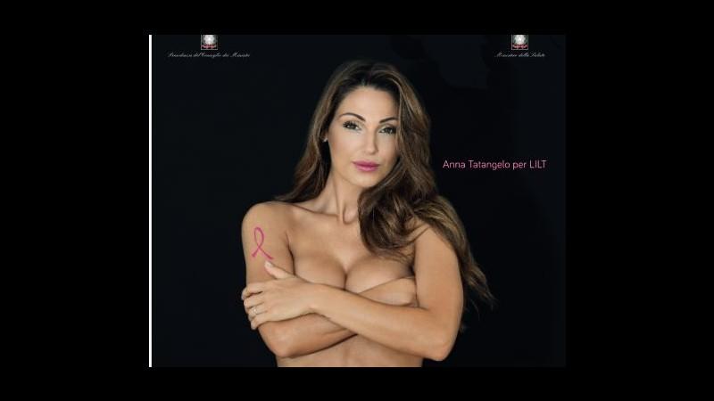 Anna Tatangelo: Nuda per la Lilt? Volevo arrivare ai giovani