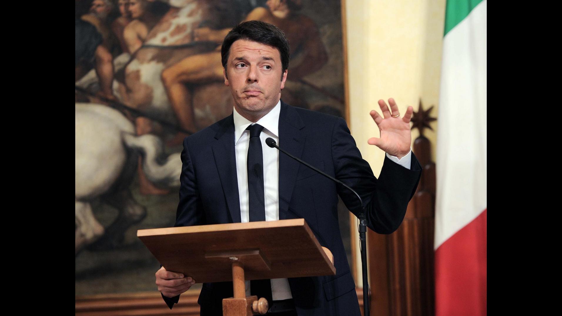 Renzi: All'Ue serve coraggio, paura amplificata dai social media