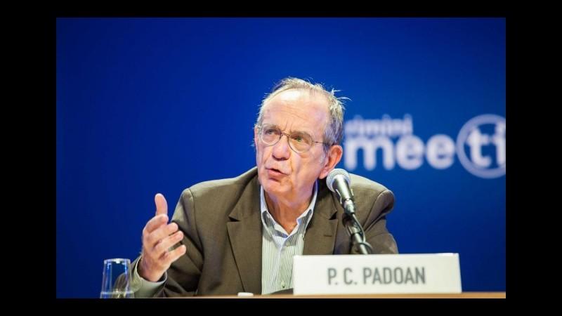 Legge di stabilità, il ministro Padoan: Giù tutte le tasse ma non solo sulla casa