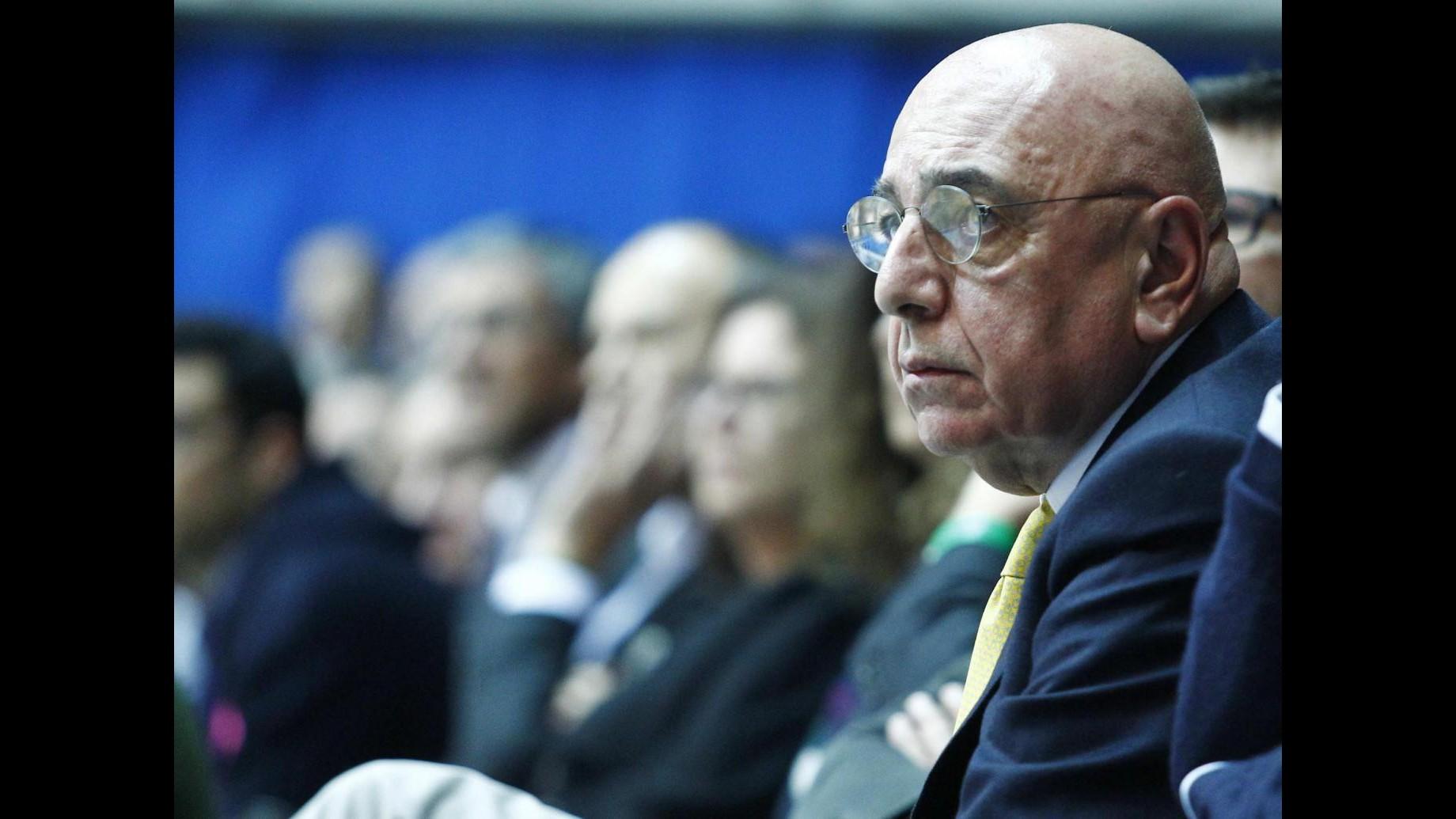 Galliani: Milan in corsa per i primi tre posti in campionato