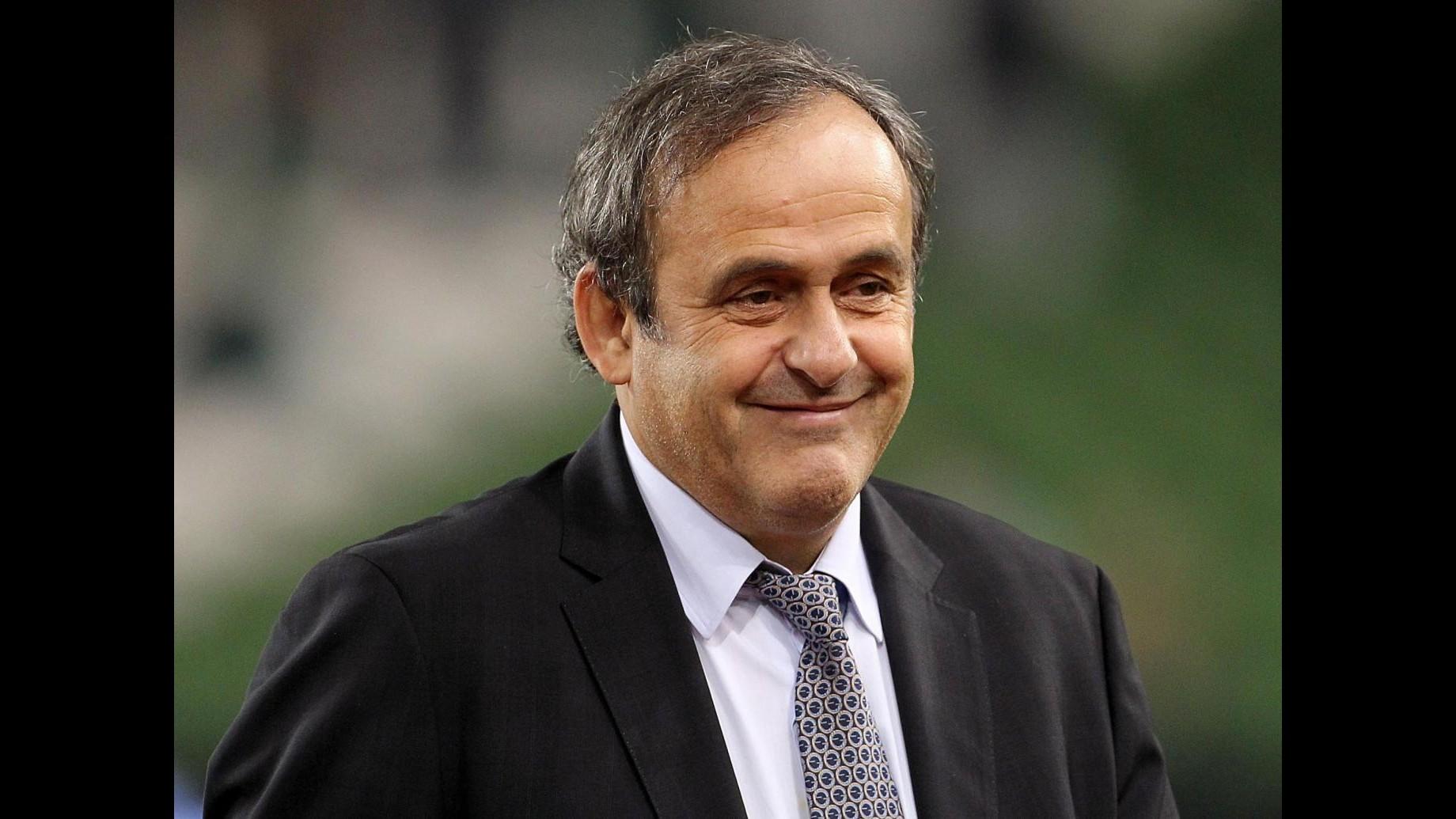 Michel Platini si candida alla presidenza della Fifa