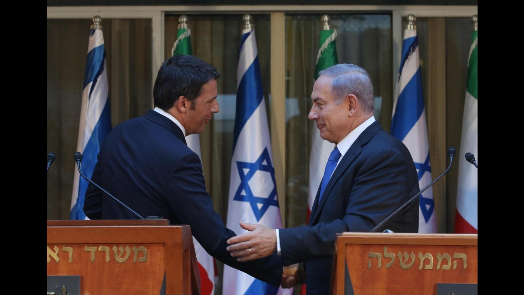 Renzi: Boicottare Israele è stupido. Soluzione è due popoli, due Stati