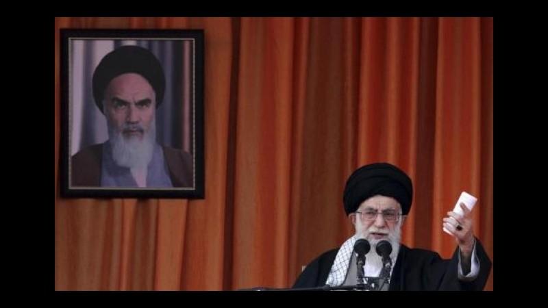 Iran, Kerry: Allarmante discorso Khamenei su sfida a politiche Usa