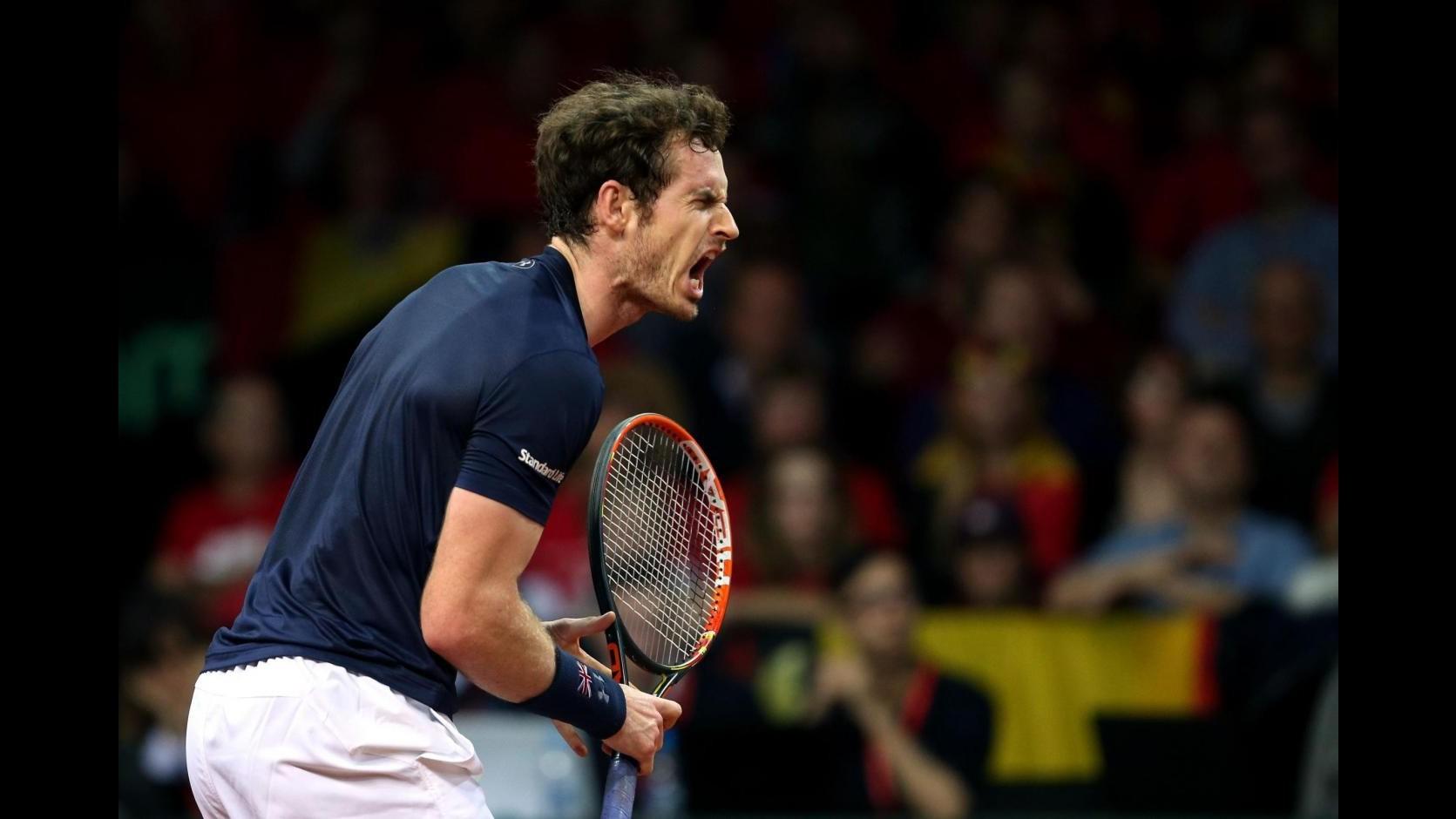 Tennis, Coppa Davis: Murray batte Goffin, trionfo Gran Bretagna
