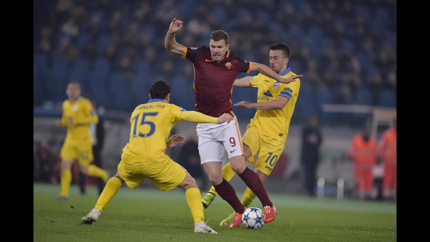 Champions: Roma agli ottavi fra i fischi, solo 0-0 con Bate Borisov