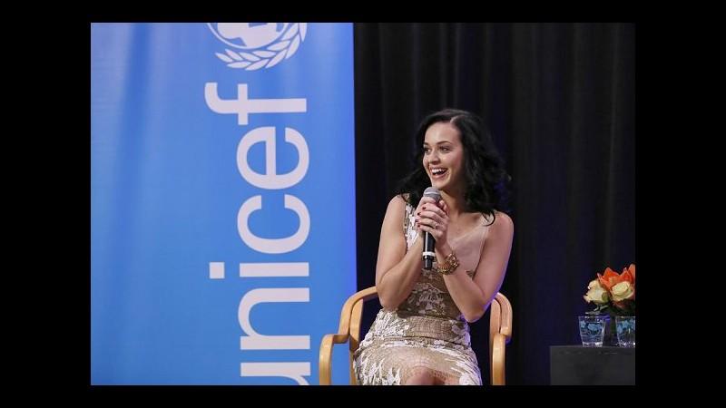 Katy Perry 'meteorina' Unicef: Cambio clima penalizza bimbi