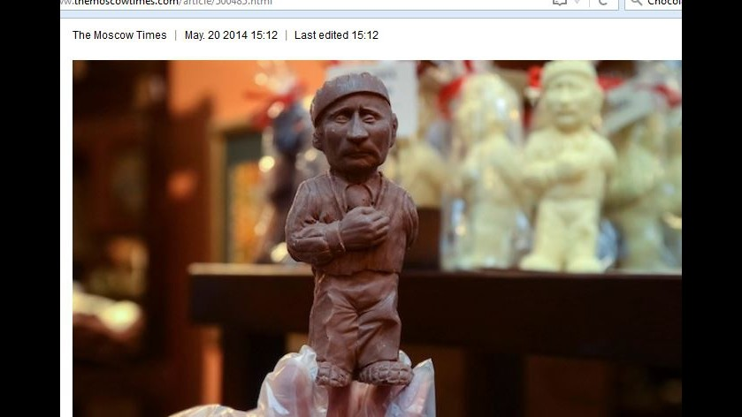 Russia, San Pietroburgo: Esposta statua di cioccolato di Putin