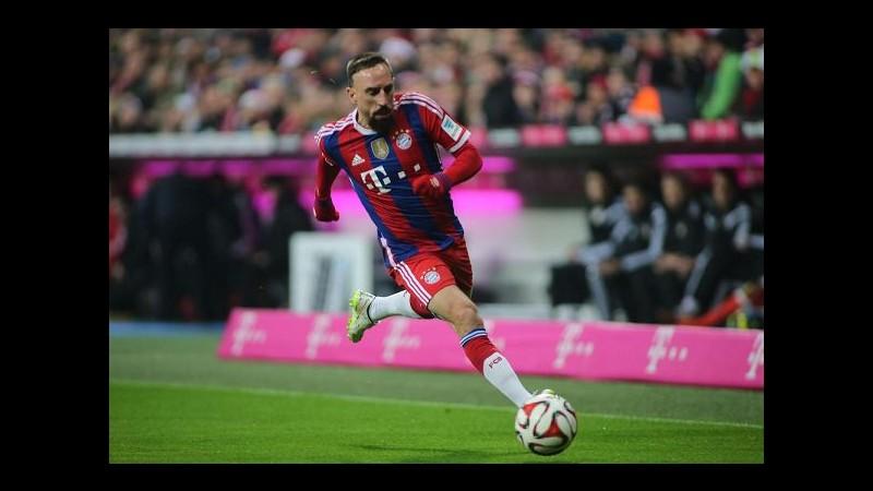 Calcio, media tedeschi: Bayern Monaco, Ribery out due mesi