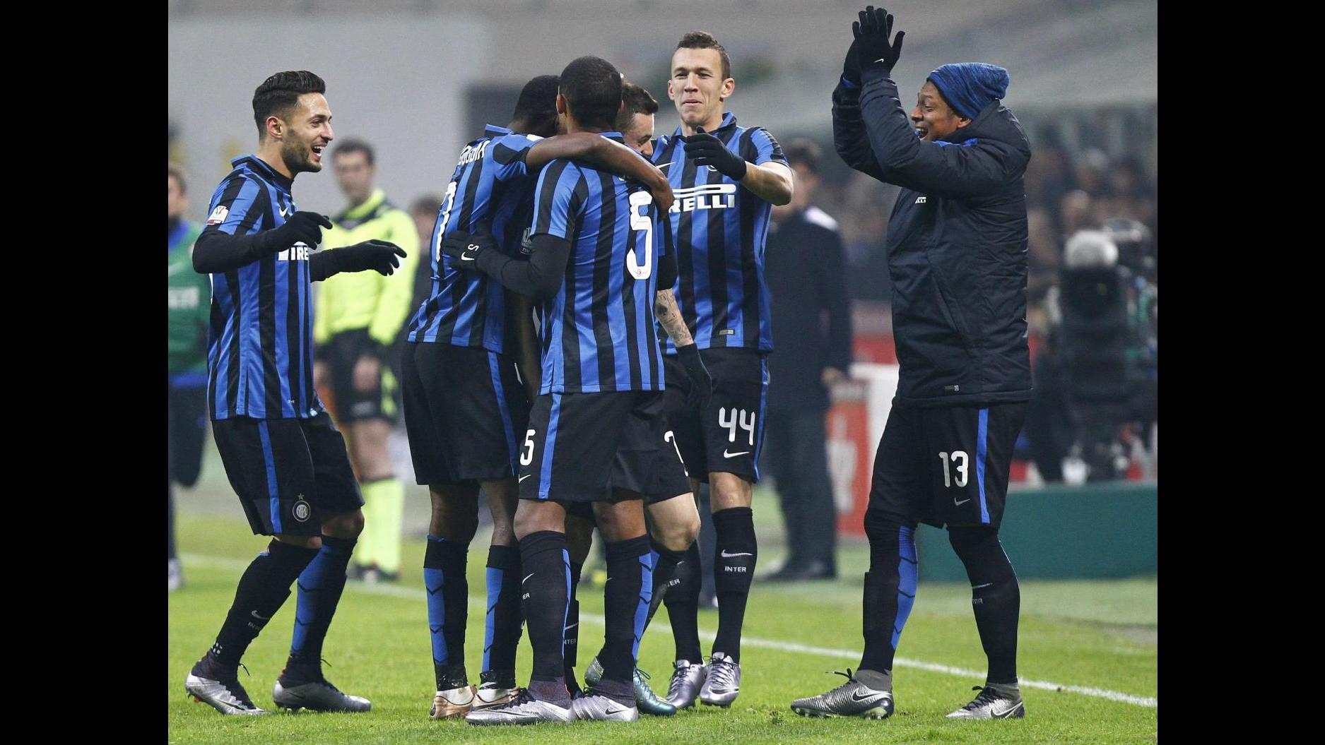 Coppa Italia: Inter vola ai quarti, tris al Cagliari