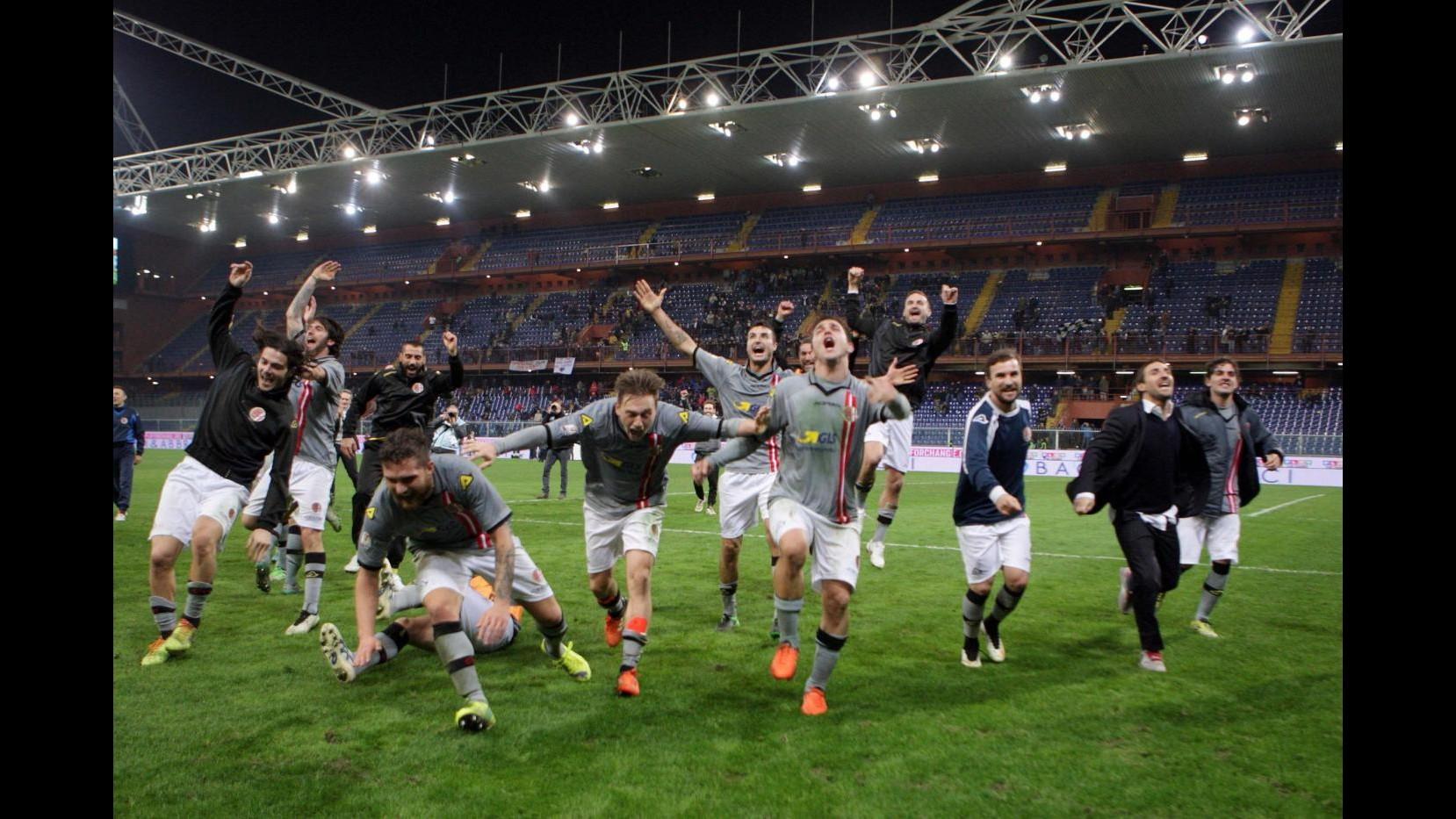 Coppa Italia, Alessandria firma l'impresa: Genoa ko 2-1, Grigi ai quarti