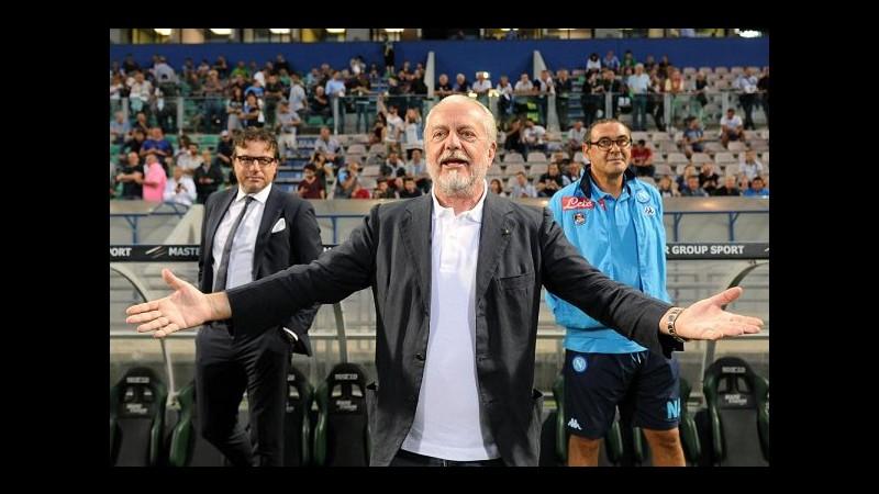 De Laurentiis: Sto lavorando a 2 nomi per rinforzare Napoli