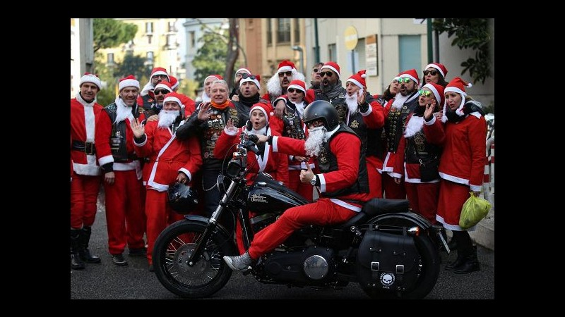 Roma, Babbi Natale in Harley per i bimbi dell'Umberto I